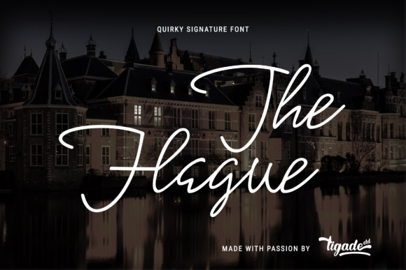 The Hague Signature Font