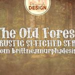 The Old Forest Handdrawn Serif Font