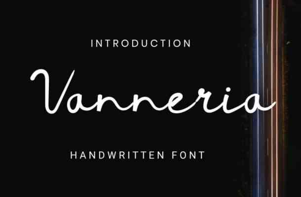 Vanneria Handwritten Font