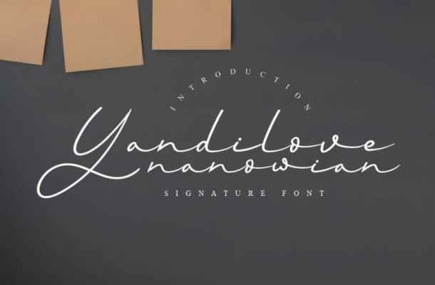 Yandilove Signature Font