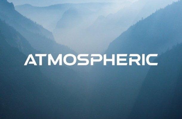 Atmospheric Display Font