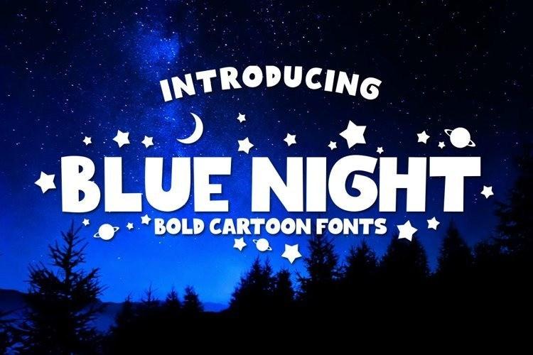 blue-night-font-1