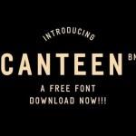 Canteen BN Sans Serif Font