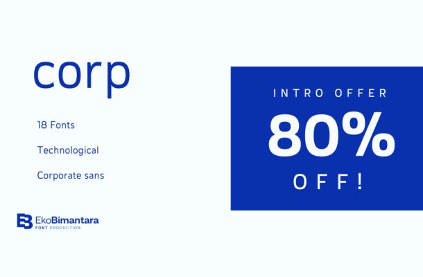 Corp Sans Serif Font Family