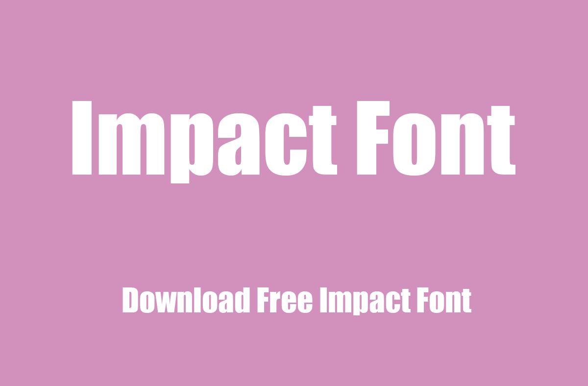 impact font thumb
