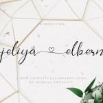 Jeliya Elbern Calligraphy Font