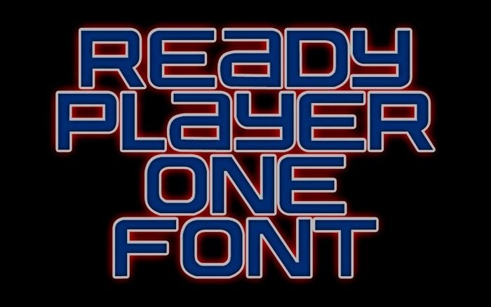 ready player one display font dafont free ready player one display font dafont free