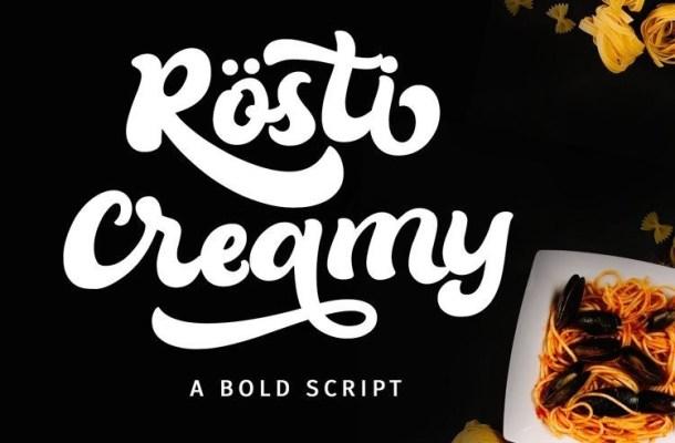 Rösti Creamy Bold Script Font