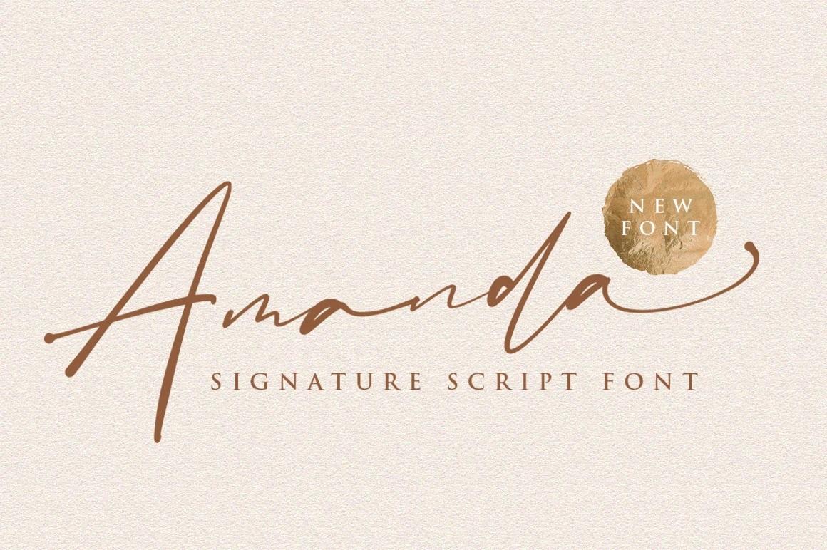 Amanda Signature Script Font-1