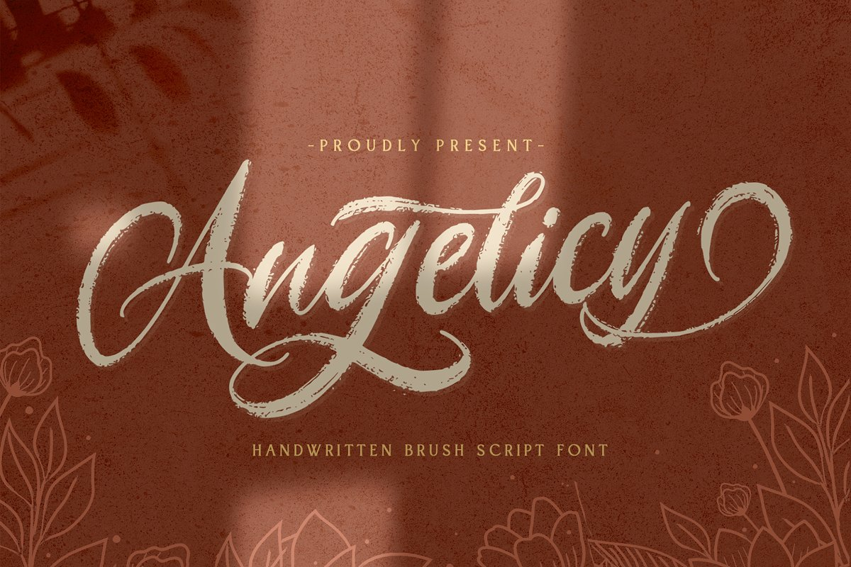 Angelicy Textured Brush Font-1