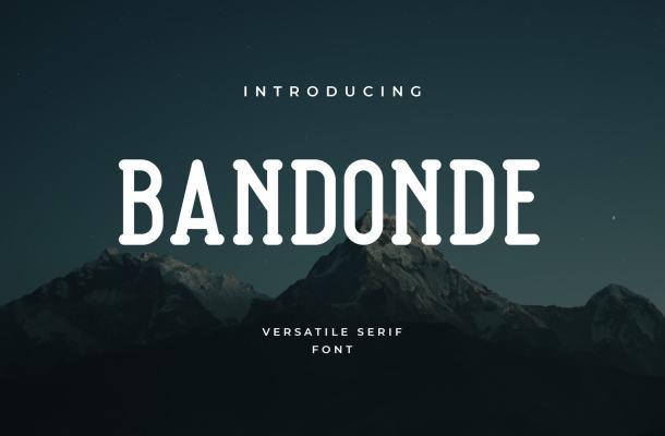 Bandonde Versatile Serif Font