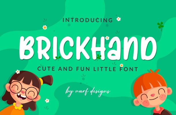 Brickhand Display Font