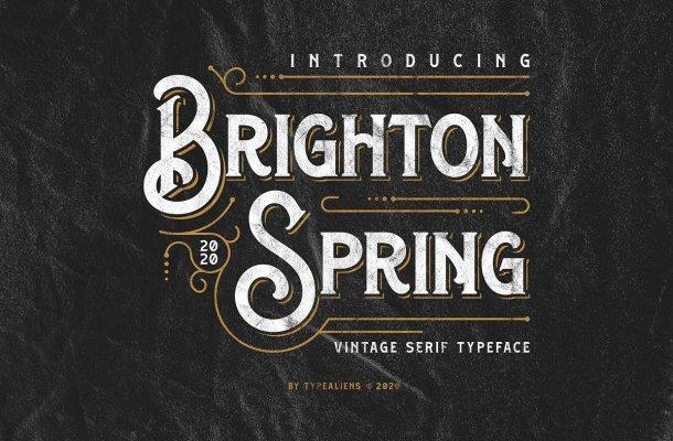 Brighton Spring Serif Typeface-1