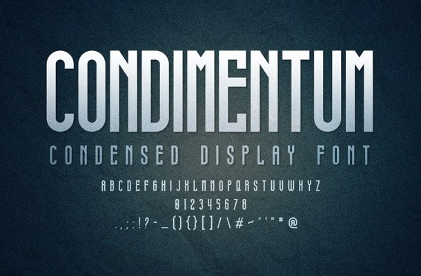 Condimentum Display Font-2