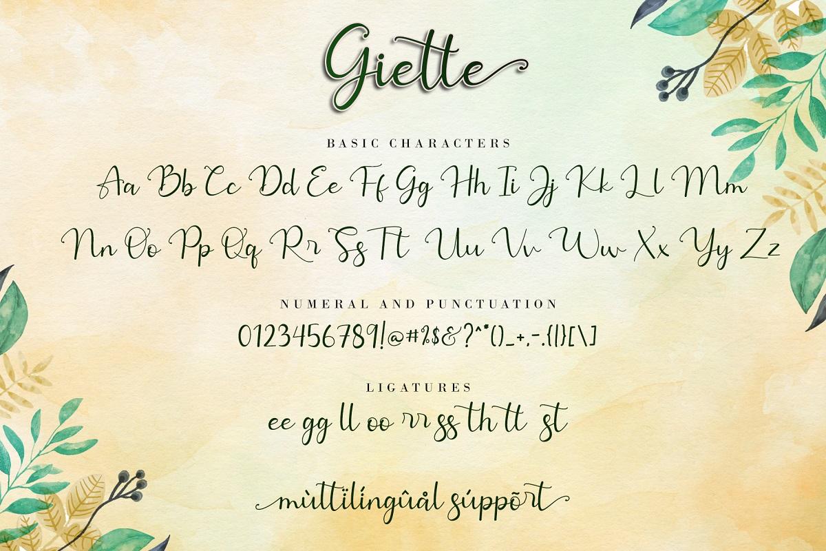 Giette Calligraphy Script Font-3