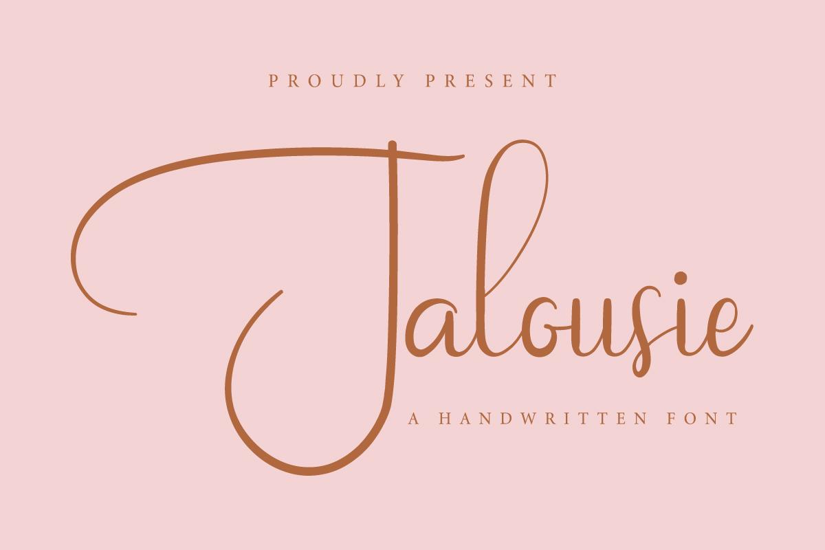 Jalousie Calligraphy Script Font-1