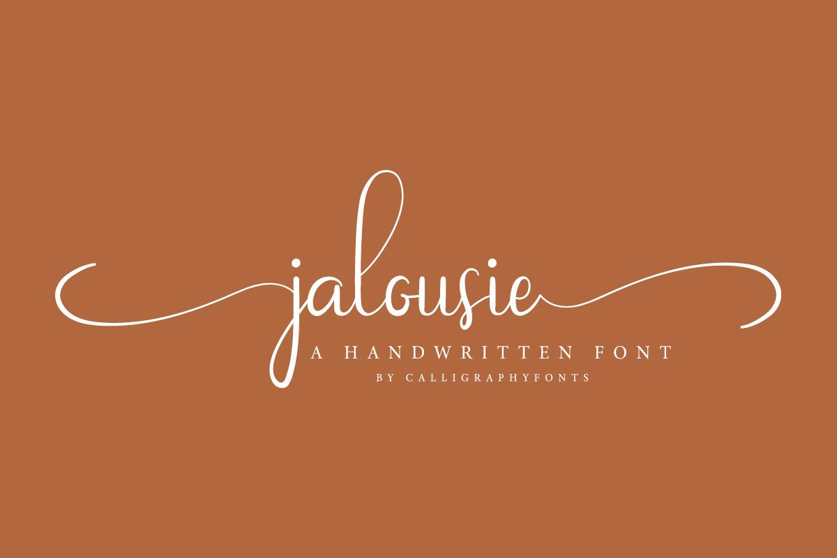 Jalousie Calligraphy Script Font-2