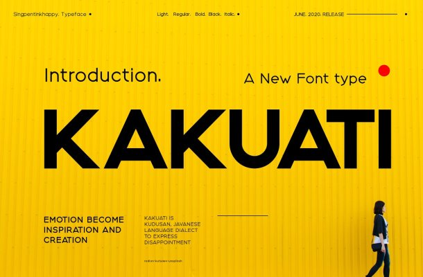 Kakuati Sans Serif Font-1