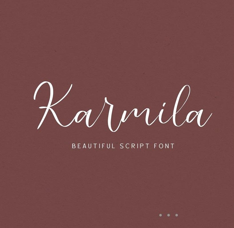 Karmila Handwritten Script Font-1