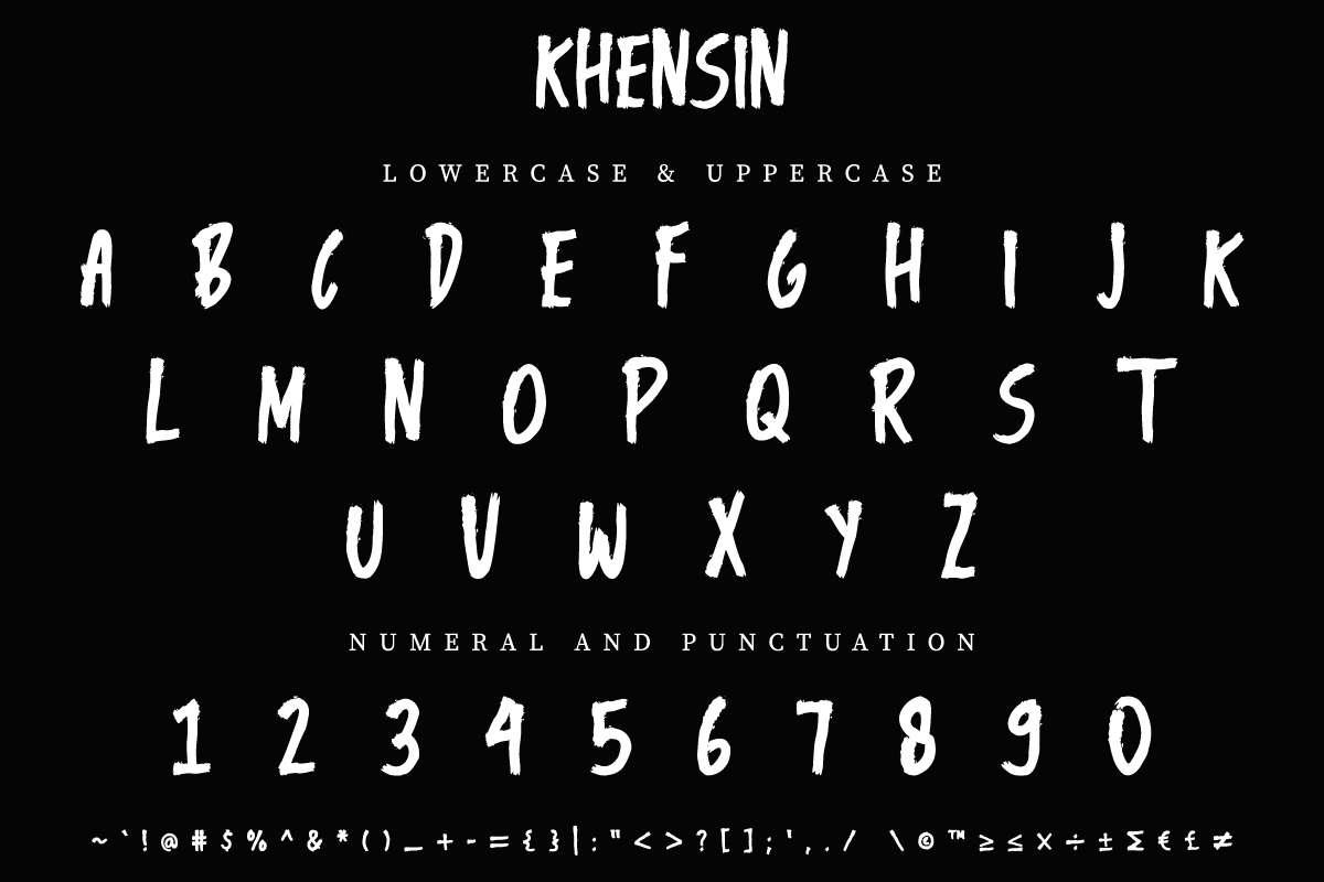 Khensin Brush Script Font-2