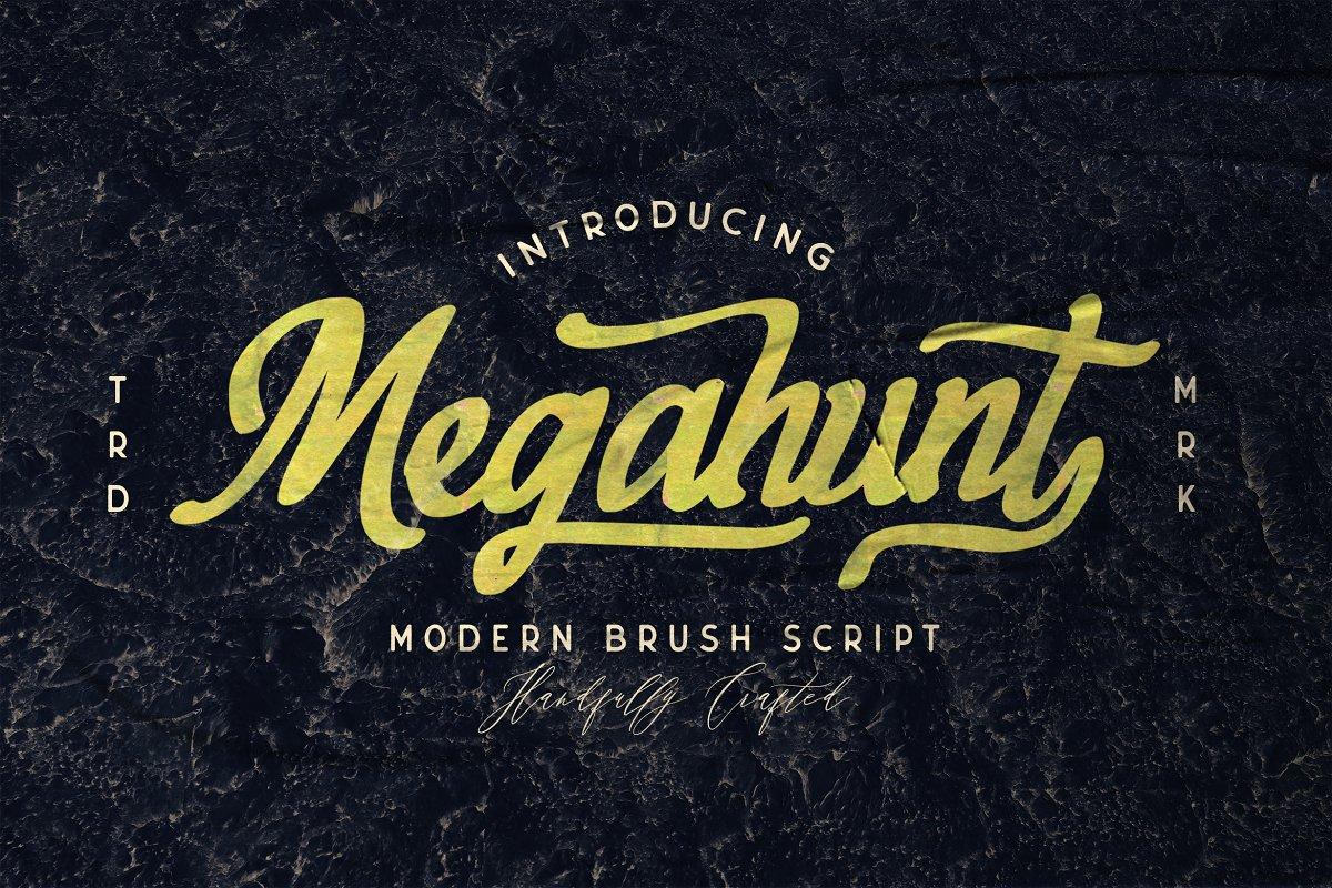 Megahunt Brush Script Font-1