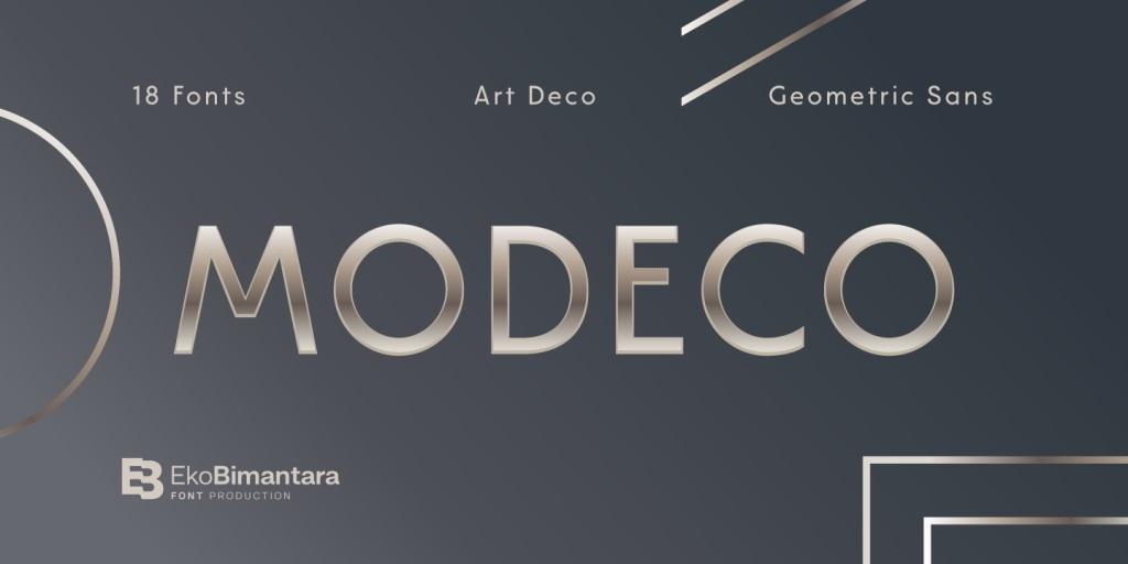 Modeco Sans Serif Font Family-1