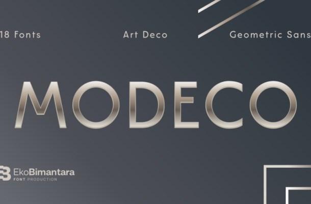 Modeco Sans Serif Font Family