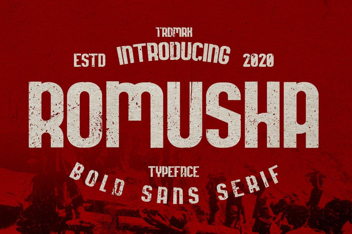 Romusha Bold Sans Serif Font-1