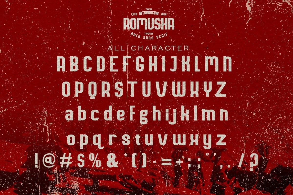 Romusha Bold Sans Serif Font-3