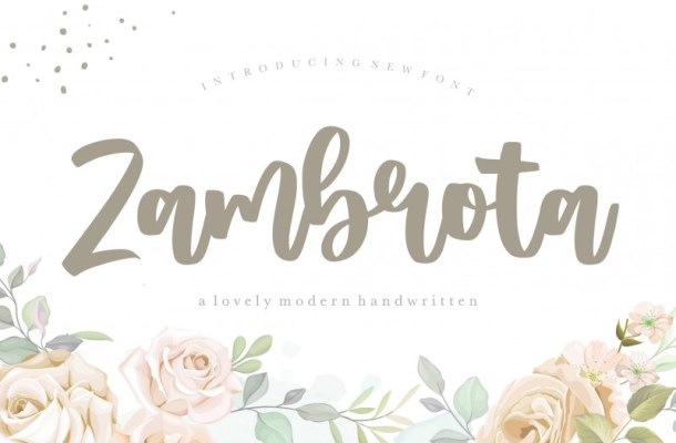 Zambrota Modern Handwritten Font-1