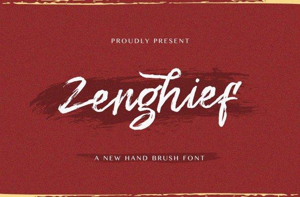 Zenghief Hand Brush Font-1