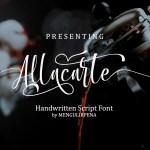 Allacarte Handwritten Script Font