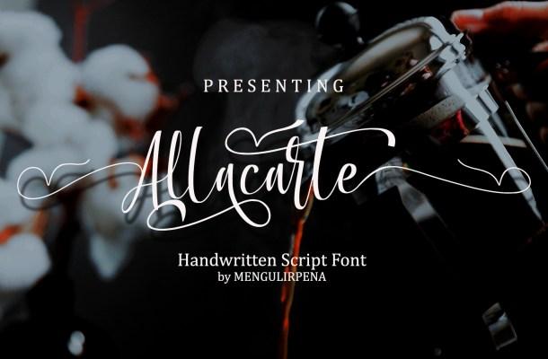 Allacarte Font