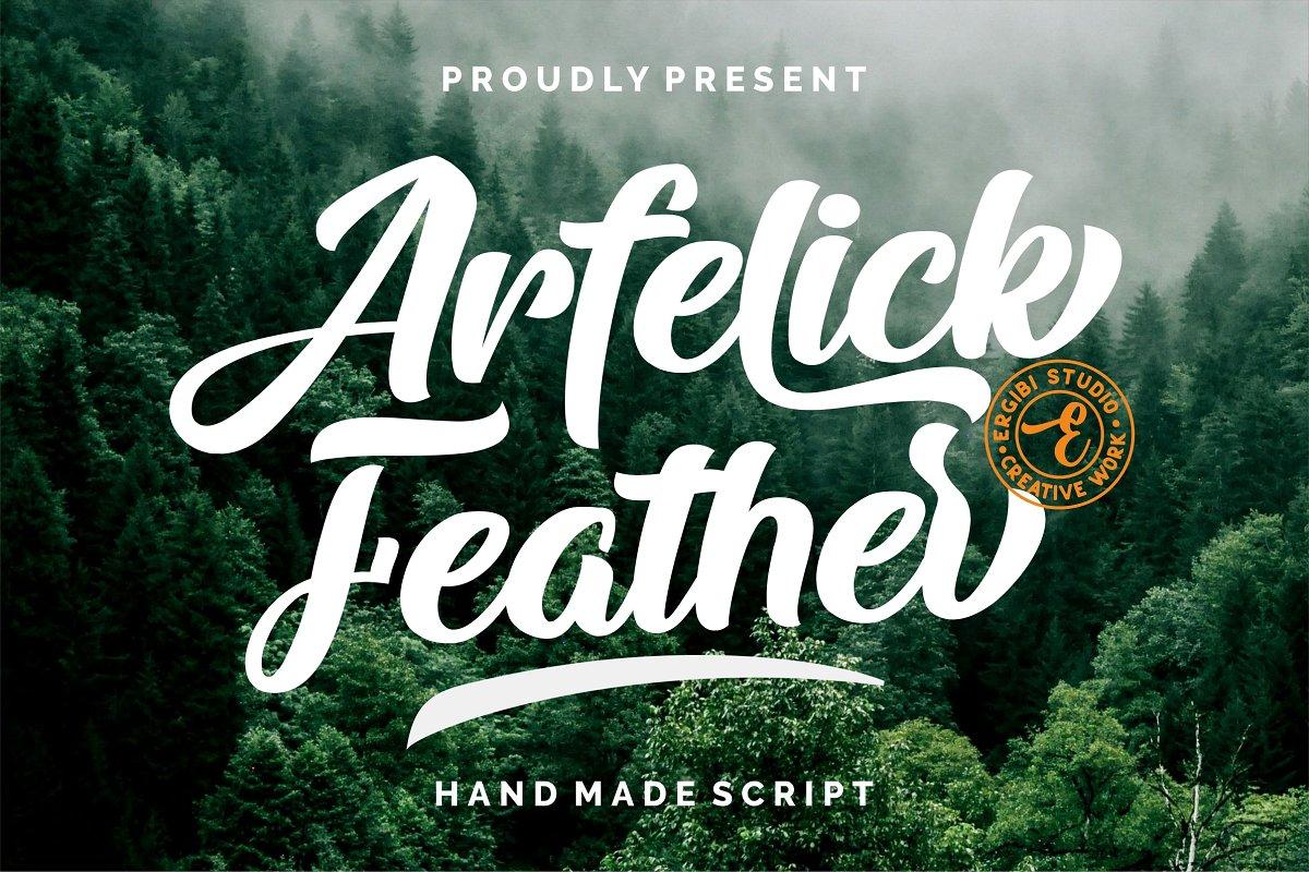 Arfelick Feather Handmade Script Font-1
