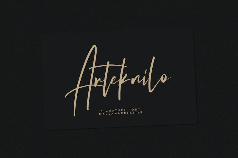Arteknilo Signature Script Font-1