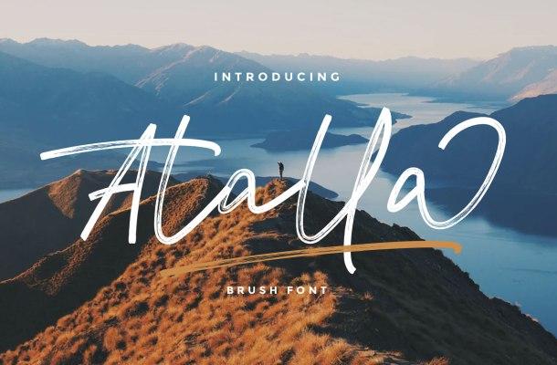 Atalla Brush Script Font