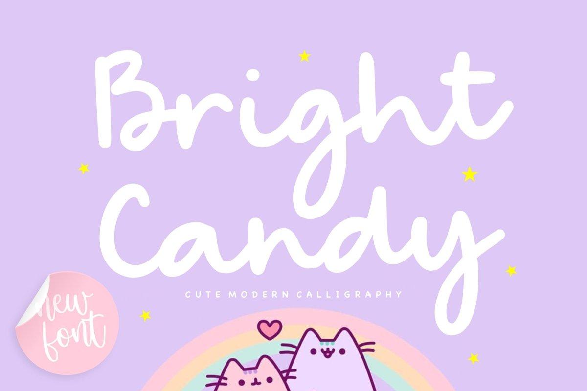 Bright Candy Bold Handwritten Font-1