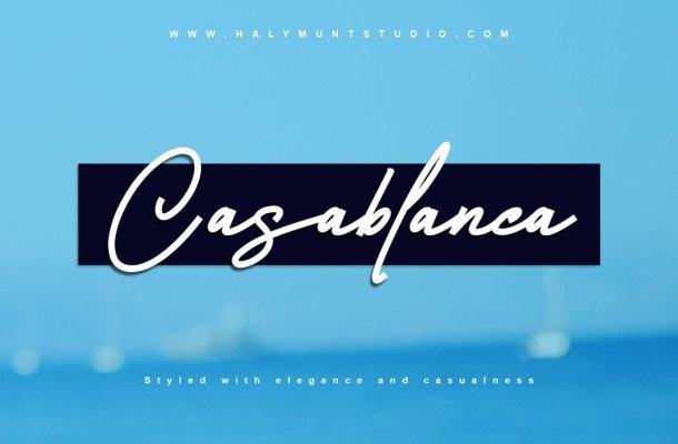 Casablanca Monoline Signature Script Font-1