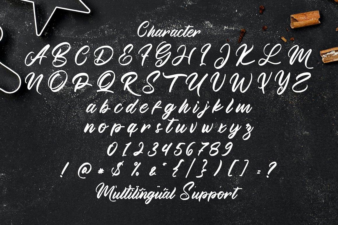 Manthesy Bold Script Font-4