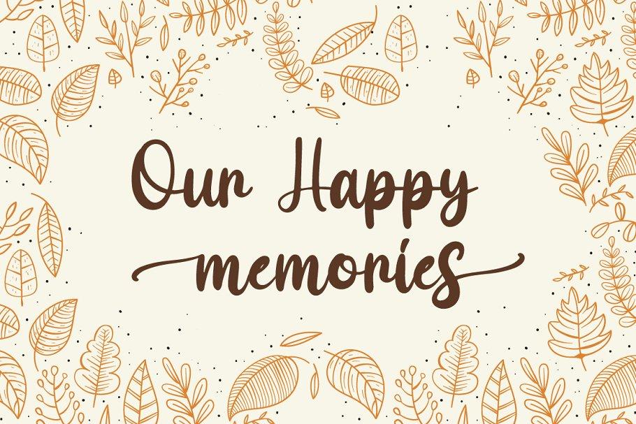 Maple Memories Handwritten Script Font-2
