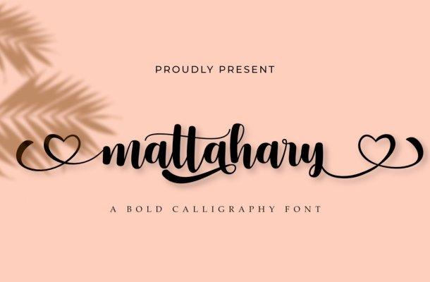 Mattahary Bold Calligraphy Script Font