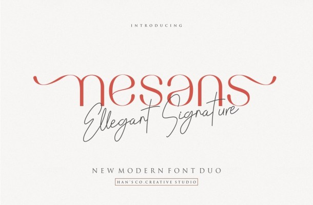 Nesans Sans Serif Font