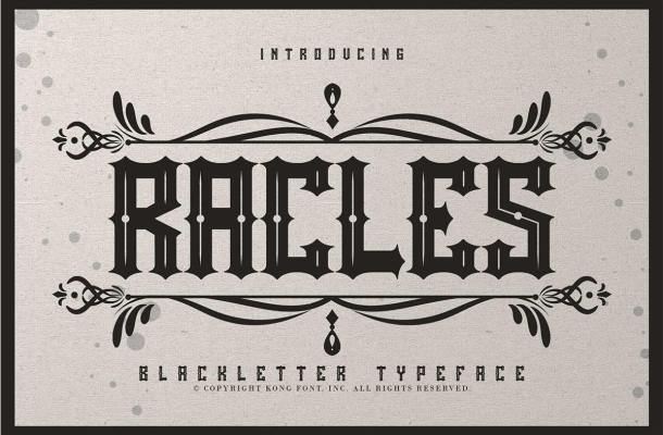 Rackles Blackletter Typeface