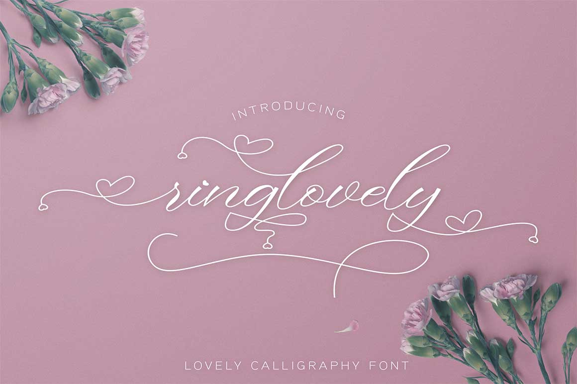 Ringlovely Calligraphy Script Font-1
