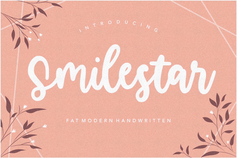 Smilestar Bold Handwritten Font-1