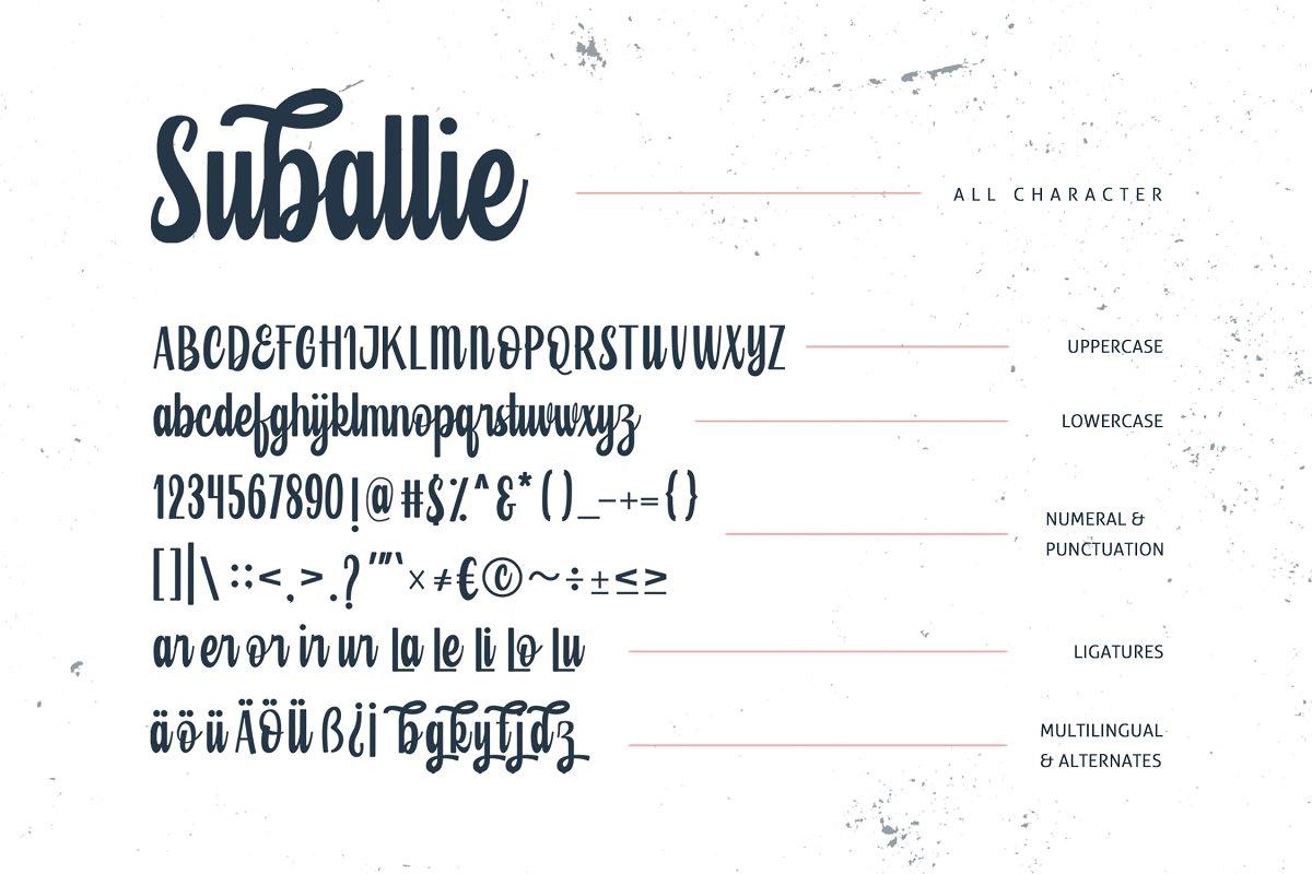 Suballie Bold Script Font-3