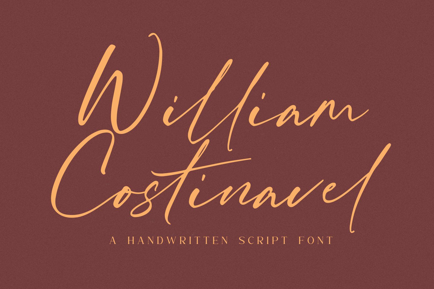 William Costinavel Handwritten Script Font-1