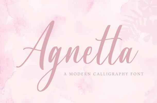 Agnetta Calligraphy Script Font