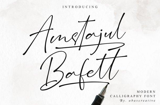Amstajul Bufett Handwritten Signature Font