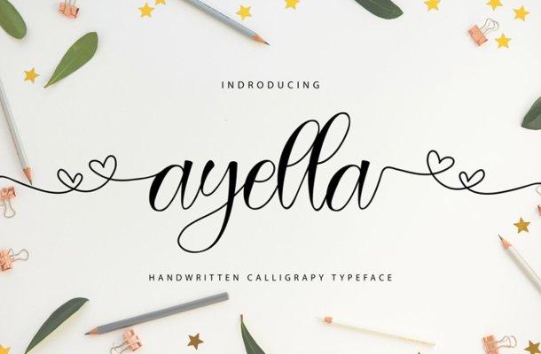 Ayella Handwritten Calligraphy Typeface
